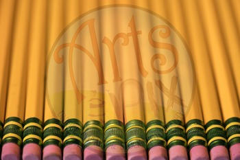 """""""Back to School"""" Photograph - Title Background Stock Photo of Pencils - 2"""