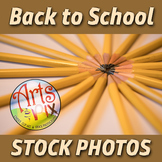 """""""Back to School"""" Photograph - Title Background Stock Photo of Pencils"""