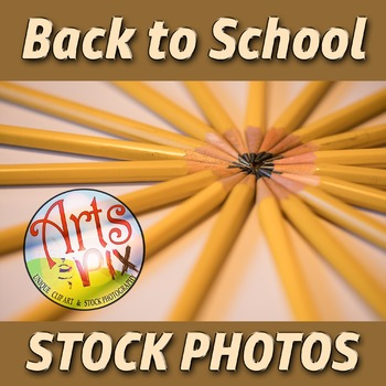 """Back to School"" Photograph - Title Background Stock Photo of Pencils"