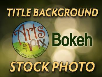 Photograph - Bokeh highlights - stock photo - title background - Bokeh