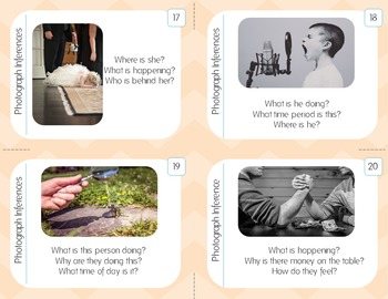 Photograph Inference Task Cards With Corresponding PowerPoint