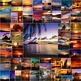 Photos Photographs SUNSETS, clip art