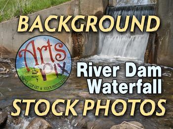 "! ""River Dam Waterfall"" - Photograph -  - stock photo"