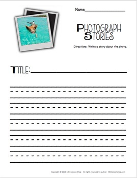 Photograph Story Starters & Writing Prompts - Narrative Writing K-3