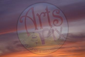 Photograph - Sunset Sky - Title Background - Stock Photo