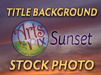 Photograph - Sunset Sky - Title Background - Stock Photo
