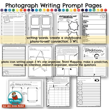 Photograph Writing Prompts | Learning to Write a Paragraph | Writing