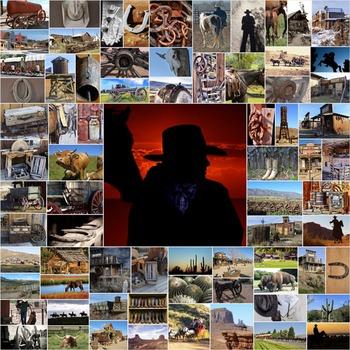 Photos Photographs COWBOY WESTERN, clip art