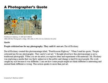 Photographer's Quote