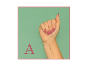 Photographic Manual Alphabet Cards
