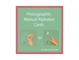 Photographic Manual Alphabet Cards