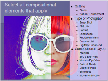 Photography 1 Vocabulary PowerPoint and Assessment