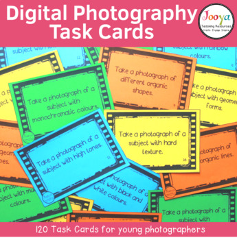 Photography - 120 Printable Task Cards for Young Photographers