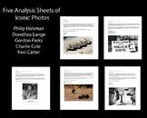Photography- 5 Iconic Photographs Analysis Sheets