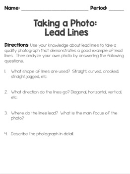 Photography Activity ... Lead Lines