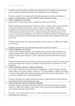 Photography - Art Unit Lesson Plans