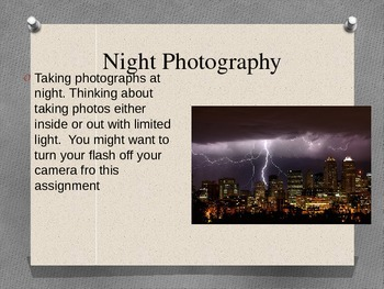 Photography Assignments