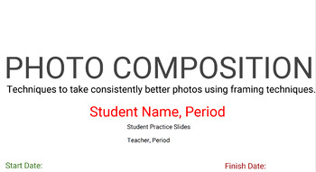 Photography Basics for Middle to High School Students