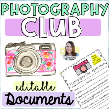 Photography Club Start-Up Document Pack