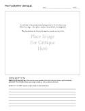 Photography Critique Worksheet
