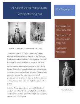 Photography- David Foster Barry- Sitting Bull