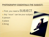 Photography Essentials 01 - Intro To Digital Photography
