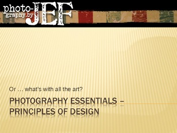Photography Essentials 06– Principles of Design