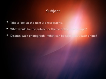 Photography Introduction Lesson