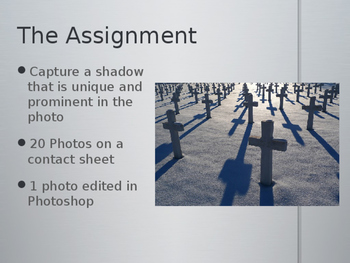 Photography Project-Capturing Shadows PowerPoint