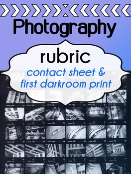 Photography - RUBRIC - contact sheet & first darkroom print