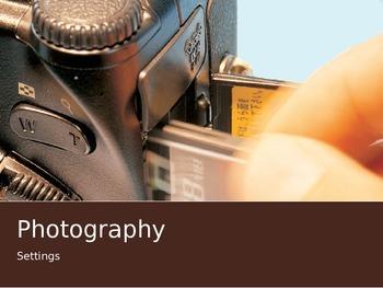 Photography Settings presentation
