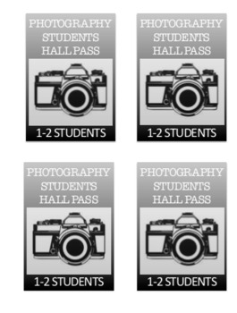 Photography for high school - student hall pass