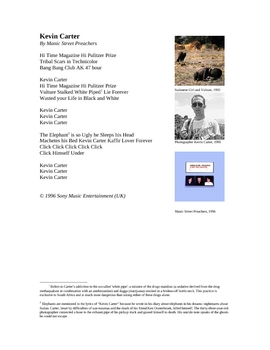 Photojournalism and Ethics: Kevin Carter Lesson Activities