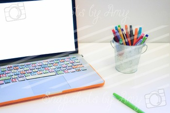 Photos: Colorful Desk {Styled Photo}