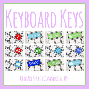 Photos - Keyboard Keys Photographic Clip Art for Commercial Use