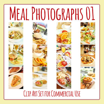 Photos Meal Clip Art Set for Commercial Use