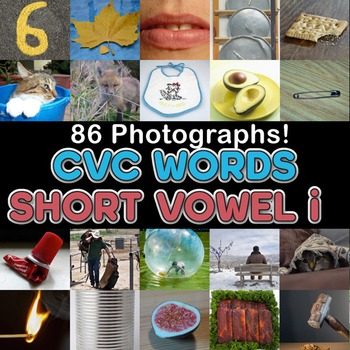 Photos Photographs CVC Middle VOWEL I clip art