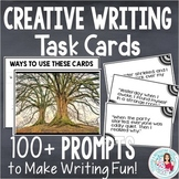 Task Cards for Creative Writing, Bellringers, Story Starters