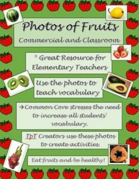 Photos of Fruits for Commercial and Classroom Use