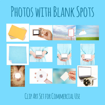 Photos of Objects with Blank Spots Photographic Clip Art Set for Commercial Use