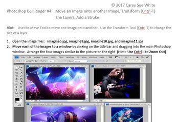 Photoshop Bell Ringer #4: Move an Image onto another Image, Transform (Cntrl-T)