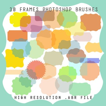 Photoshop Brushes: 30 Frames and Labels