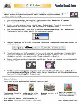 Photoshop Elements Basics - Colorize