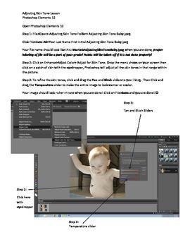 Photoshop Elements Intro Unit Lesson 4: Skin Tone Adjustments