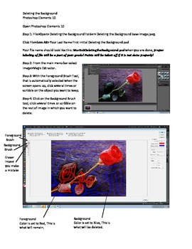 Photoshop Elements Intro Unit Lesson 5: Deleting the Background