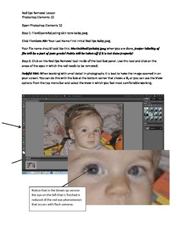 Photoshop Elements Intro Unit Lesson 7: Red Eye Reduction