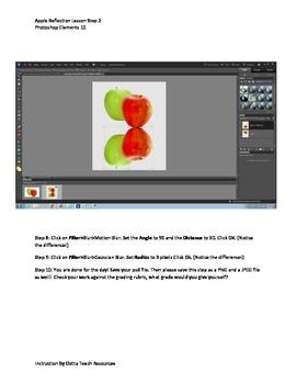 Photoshop Elements Unit 1 Apples Step 2