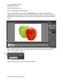 Photoshop Elements Unit 1 Apples Steps 1-3 with images