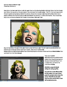 Photoshop Elements Unit 2 Andy Warhol Step 3 Adding Color to a BW Image