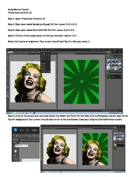 Photoshop Elements Unit 2 Andy Warhol Step 4 Putting it al
